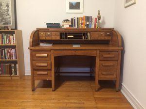 Oak Roll-Top Desk for Sale in Chicago, IL