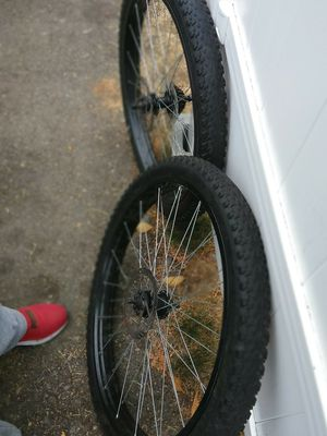 Nice pair of fat tires got rims disc ready for Sale in Kent, WA