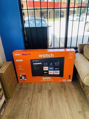 Onn plus roku tv 50 inch (80 down payment) Y5GF for Sale in Dallas, TX