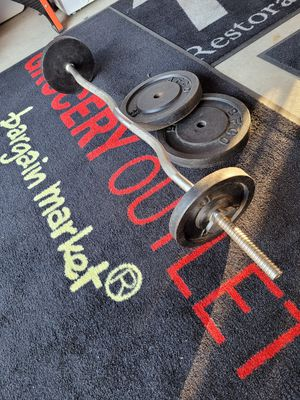 """1"""" curl bar and 1"""" iron weights for Sale in Suisun City, CA"""