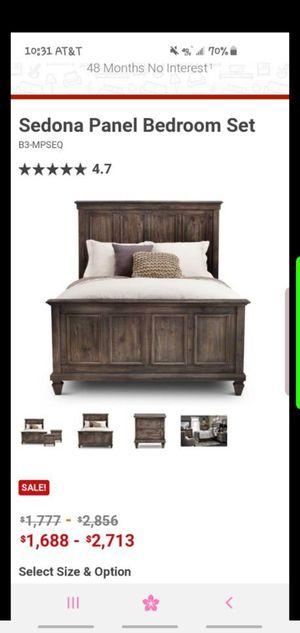 King bed frame headboard footboard for Sale in Idaho Falls, ID