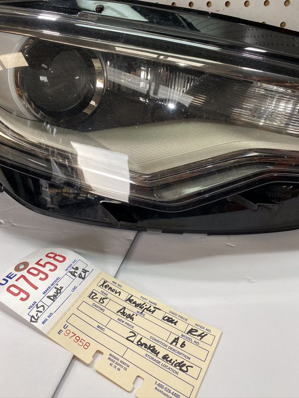 2012 2013 2014 2015 AUDI A6 RIGHT SIDE HID XENON HEADLIGHT OEM
