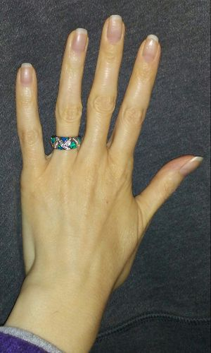 Absolutely Stunning NEW Sterling Silver Band Fire Opal Ring! for Sale in Vancouver, WA