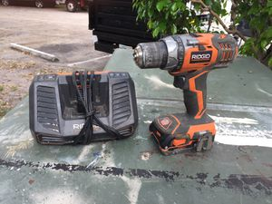 Rigid Drill w/battery and Rigid Battery Charger for Sale in North Lauderdale, FL