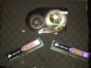 "GeForce 9600 GSO graffic card ,and ""2"" Corsair XMS2 memory chips for Sale in Las Vegas, NV"