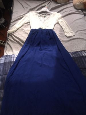 White and blue prom dress for Sale in Burkeville, VA