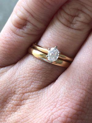 1/2 karat oval diamond wedding ring set for Sale in Baton Rouge, LA