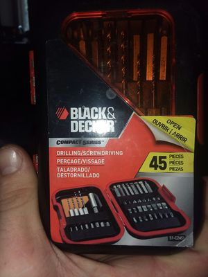 Black and Decker tool set 45 pieces for Sale in Hutchinson, KS