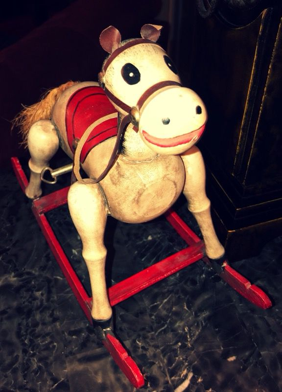 Enesco Vintage 1979 Rocking Horse Music Box