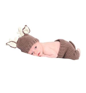Newborn Baby Photography Prop Crochet Deer hat and pants costume for Sale in Melrose Park, IL