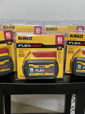 Dewalt FLEXVOLT 20vMax/60vMax 6.0 Batteries for Sale in Azusa, CA