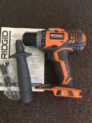 Ridgid. 18V FUEGO Lithium Ion 2-Speed Cordless Compact Drill Driver (Tool Only). R86008. for Sale in Brooklyn, NY