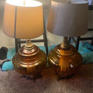 Ef And Ef Antique Lamps Glass Bottoms for Sale in Silver Spring, MD