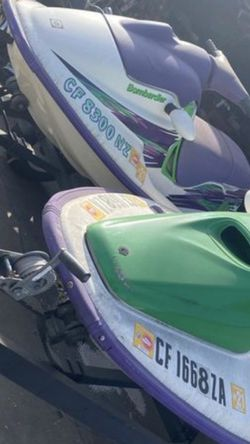 Bombardier Sea- Doo Watercraft Acuatic Motors Comes With Trailer Clean Title for Sale in Los Angeles,  CA