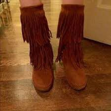 Rampage fringe boots size 7.5 for Sale in Greer, SC