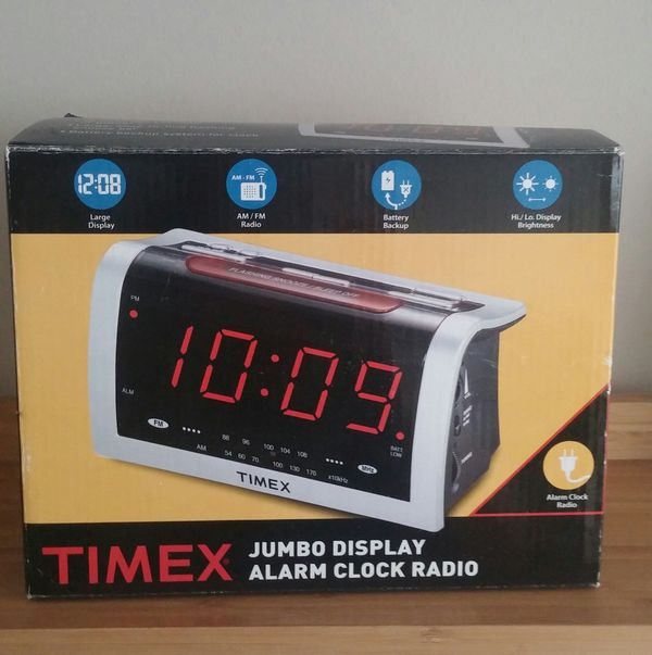 Timex Jumbo Digital Display Alarm Clock Radio/Unused