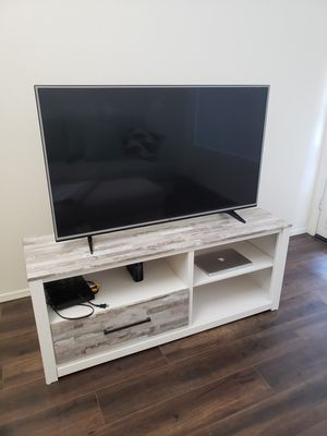 Beautiful TV Stand - White/Grey Wood for Sale in Scottsdale, AZ