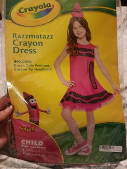 Kids pink crayon costume for Sale in San Angelo,  TX