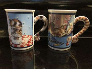 Comical Cats Porcelain Collector mugs for Sale in Veneta, OR