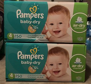 Pampers diapers size 4 (150 in a box) $45 each or both for $70 for Sale in Daly City, CA