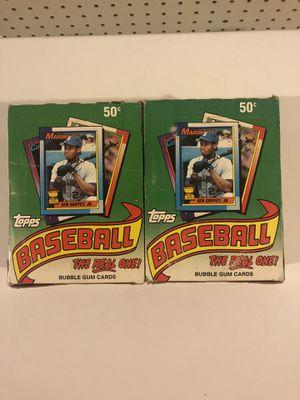 1990 Topps unopened baseball card packs for Sale in Rutland, MA