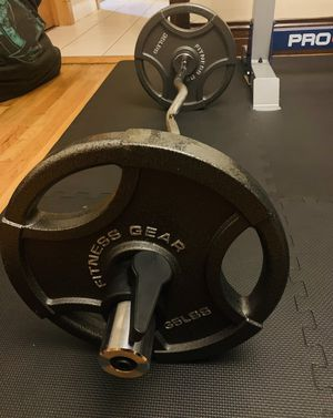 NEW OLYMPIC CURL BAR SET 85 LBS for Sale in Oak Park, IL