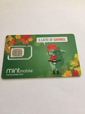 Mint mobile simcard with preloaded 3 months unlimited talk, text & 3gb data $25 only - save cash for Sale in West Sacramento, CA