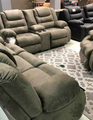 💲39 Down Payment 🍃Best Deal  SPECIAL] McCade Cobblestone Reclining Living Room Set for Sale in Laurel, MD