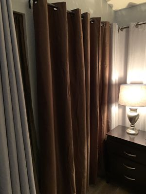 5 curtain panels for Sale in Fontana, CA