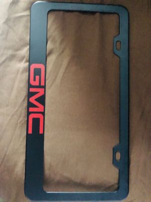 Black and Red GMC License plate cover. Metal. Fresh New. for Sale in Hialeah, FL