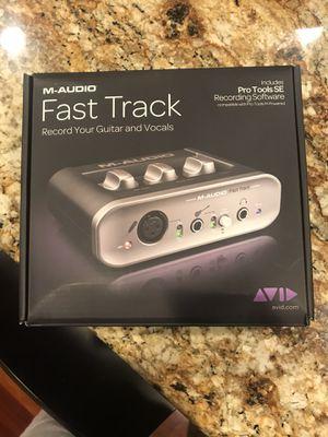 M audio, fast track, record vocal guitar violin recording software for Sale in Irvine, CA