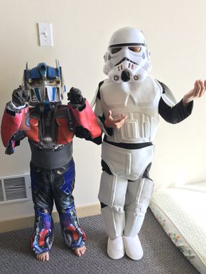 Kids children Star Wars storm trooper costume dress up clothes for Sale in Seattle, WA