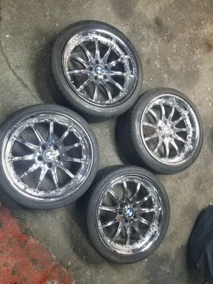 """BMW 19"""" staggered chrome rims $800-$800 for Sale in Brooklyn, NY"""