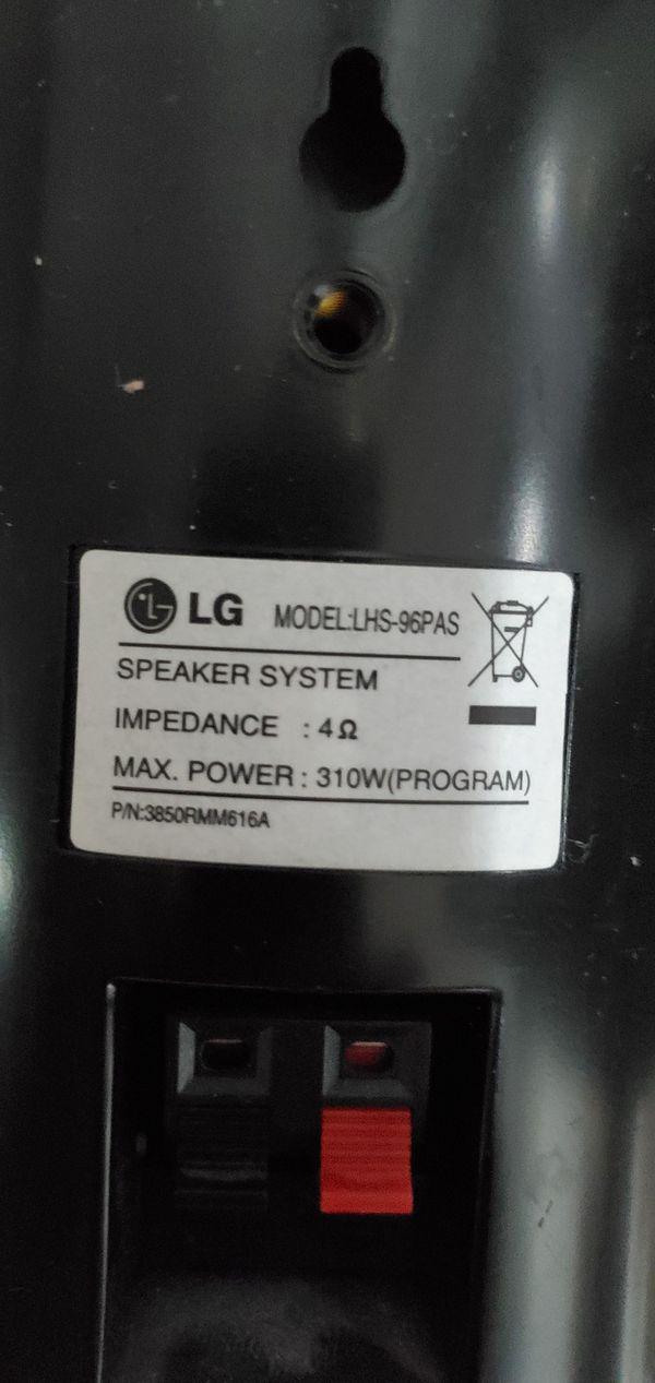 LG 5 Channel Surround Sound Speaker Set - Optional Subwoofer