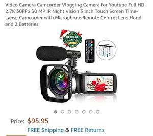 2.7k Video Camcorder for Sale in Columbus, OH