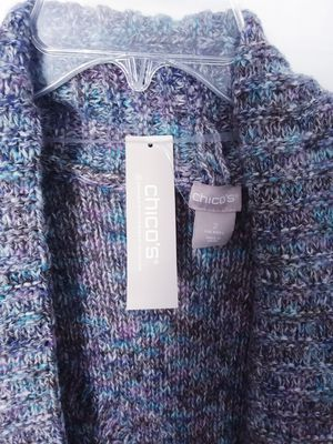 CHICO'S multi-colored textured Shawl- collar cardigan for Sale in Salem, OR