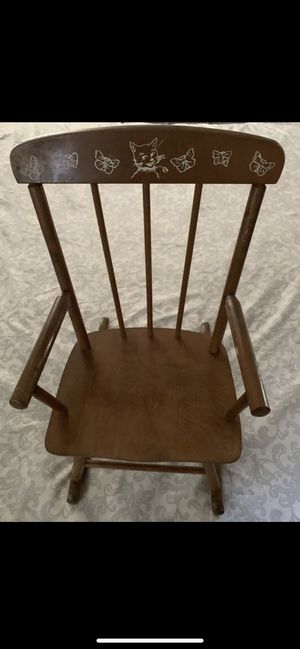 Child kids 1940's wood rocking chair for Sale in Fresno, CA