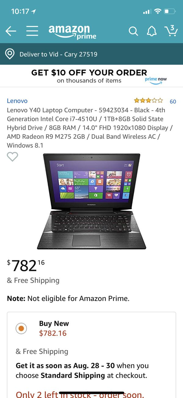 SELLING LENOVO GAMING COMPUTER. DISCOUNTED RATE:$300 OR BEST OFFER. NEED TO SELL QUICK