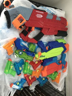 Lot of water guns, magazine rack, wall mirror for Sale in Chester, VA