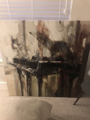 Canvas Art (Abstract Piano 48x48); $70 or Canvas Art (Paris 47x47); $70 for Sale in Tampa, FL