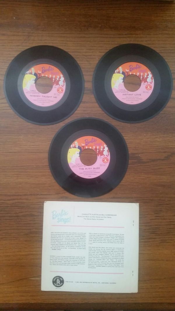 1961 Barbie Sings! 3 Record Book