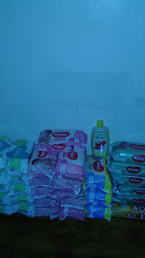 Pampers, huggie wiped with a&d ointment and a bottle of baby wash for Sale in Cincinnati, OH