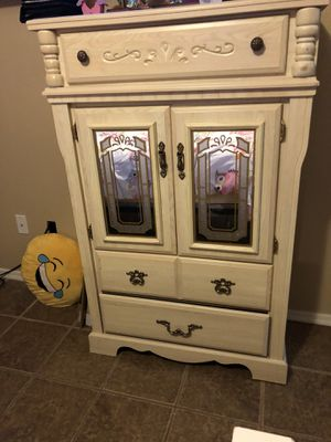 Armoire with 3 drawers and 2 shelves behind doors. Good condition. $75. Must pick up. I cannot deliver for Sale in Yuma, AZ
