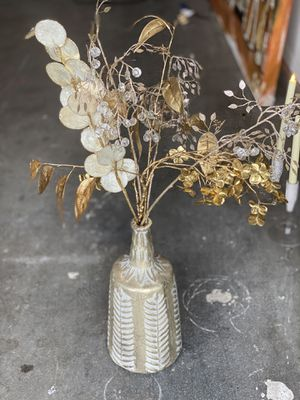 Vase with faux flower decor for Sale in Austin, TX