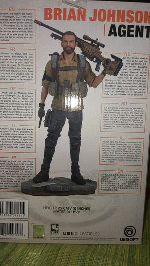 Brian Johnson agent statue the division 2 for Sale in West Bloomfield Township, MI