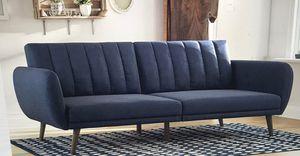 Sofa Futon Navy Linen Novogratz Brittany for Sale in Henderson, NV