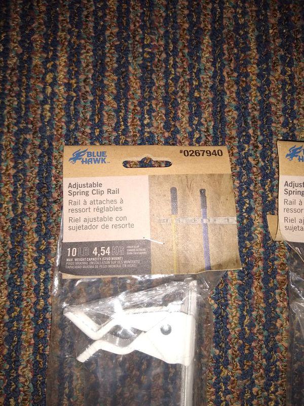 2-adjustable spring clip rails