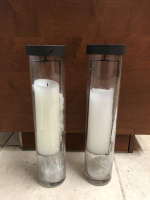 Glass candle holders set of two for Sale in Miami, FL