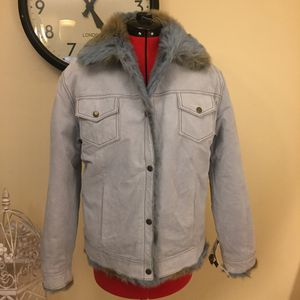 Wilson Leather Blue Suede Fur Reversible Jacket NWT for Sale in Seminole, FL