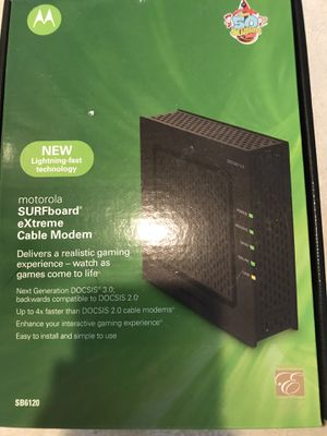 Motorola SURFboard extreme cable modem for Sale in Renton, WA